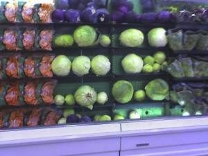 Enormous Cabbage at the Super Market